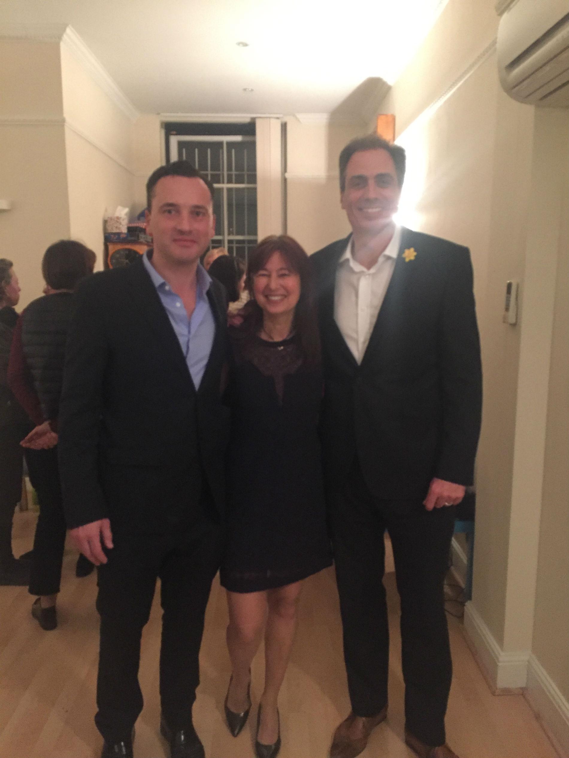 Dr Rodriguez avec Olivier Branford et Francine Joyce Président et Vice-Présidente Société Clinique Française