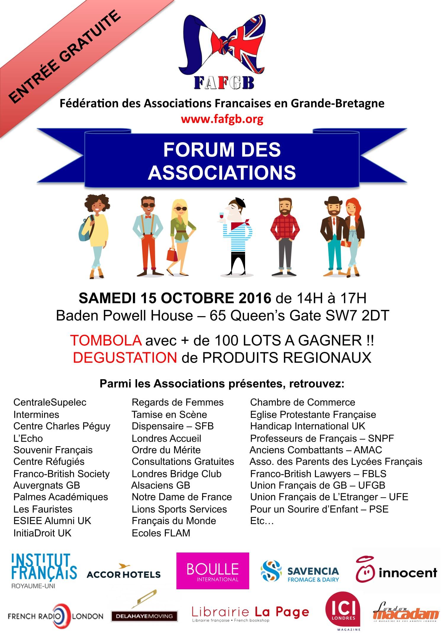 Forum des Associations (Londres) 15 octobre 2016